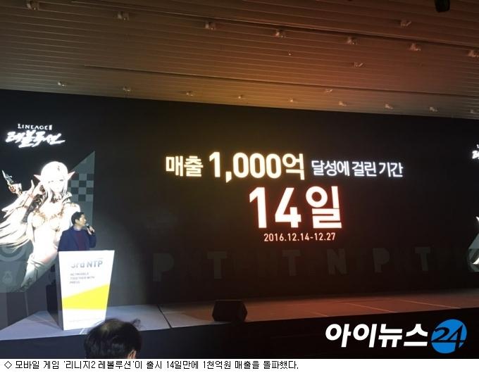 '리니지2 레볼루션' 한달 만에 2천억 벌어