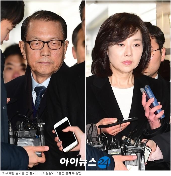 김기춘·조윤선 구속, 특검 칼날 朴 대통령 ''겨냥''
