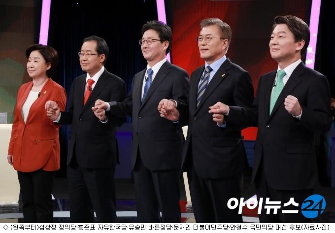 대선 5龍, 페이스북서도 열띤 경쟁