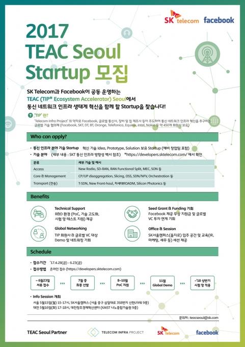 SKT-페이스북, 통신 인프라 스타트업 키운다