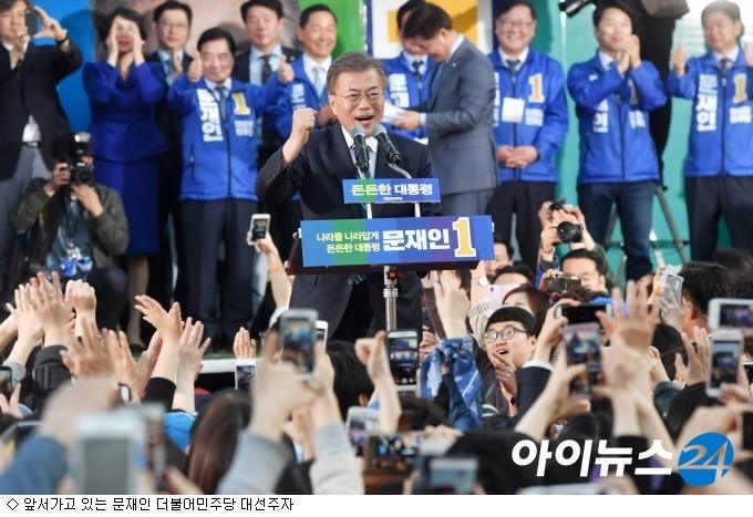 9일 남은 대선 주자 '5인 5색' 선거 전략
