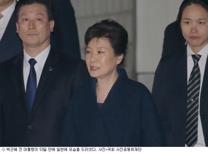 박근혜 전 대통령 국정농단 재판 시작