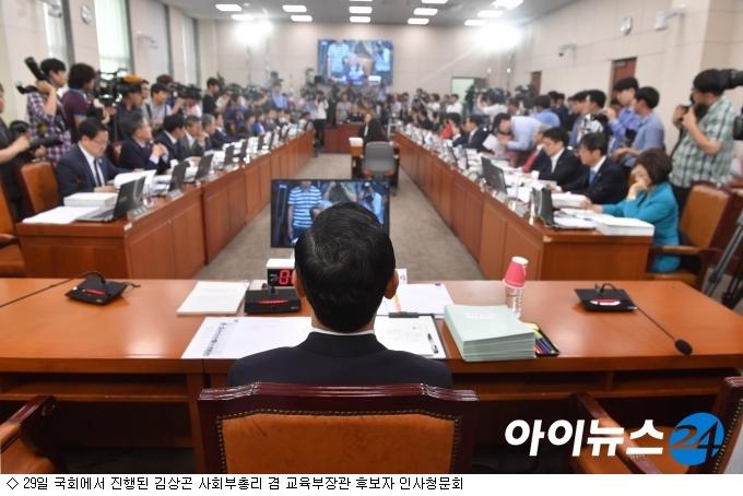 정책검증 실종 김상곤 청문회, 논문·이념 논란만