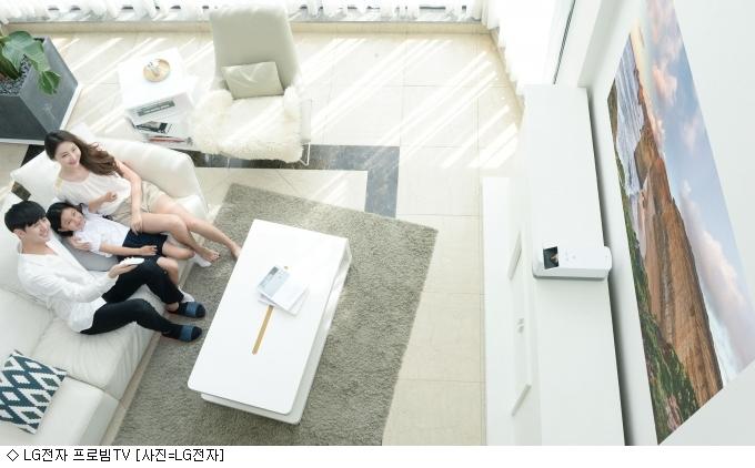 LG 프로빔 TV, 한뼘 거리 안되도 ''100인치''