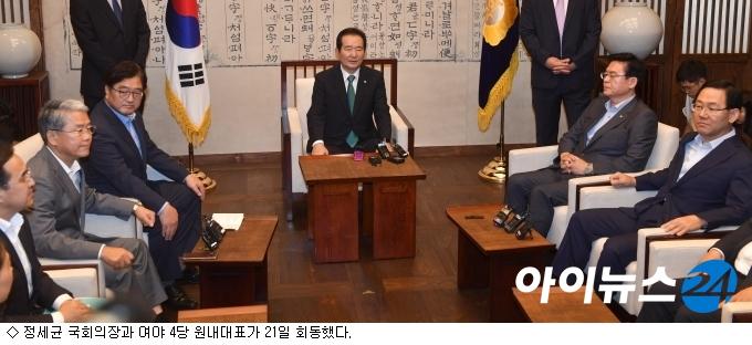 국회의장·여야, 결산국회 협의 ''빈 손''