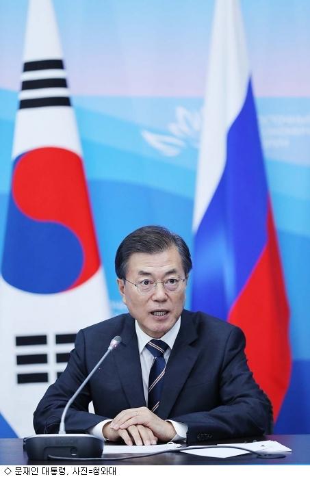 안보 위기 여파, 文 대통령 지지율 4주 연속 하락
