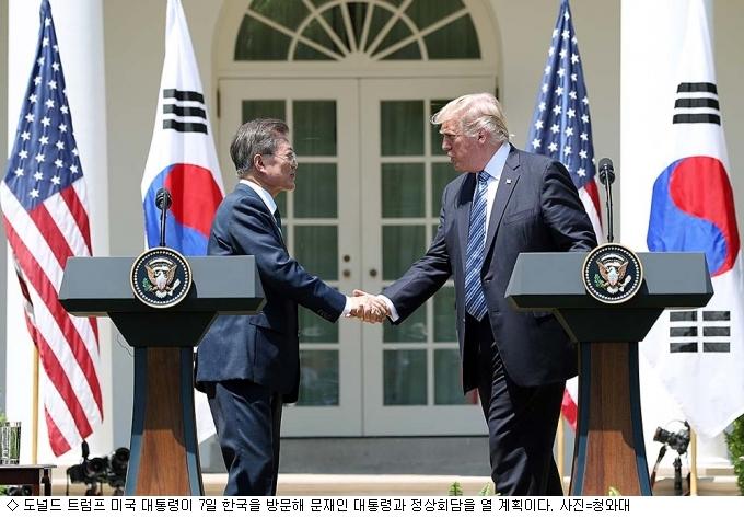 트럼프 아시아 방문, 7일 한미 정상회담