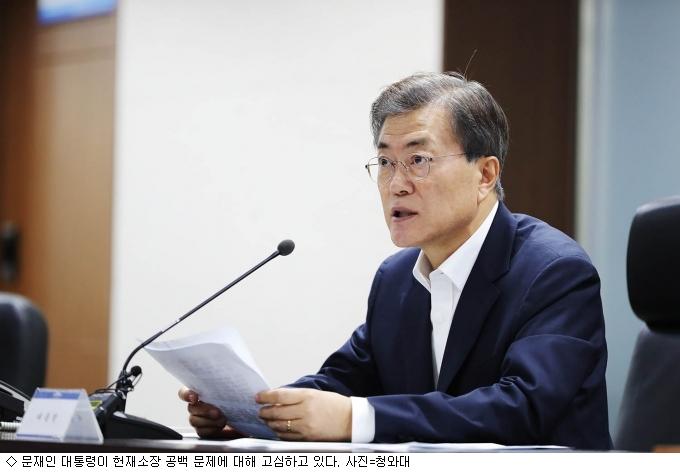 文 대통령, 헌재소장 공백 해소 문제 ''고심''