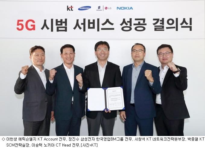 KT, 삼성·에릭스·노키아와 ''5G 시범서비스''