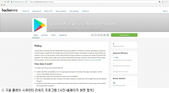 """""""앱 보안 취약점 신고…보상금 건 구글"""