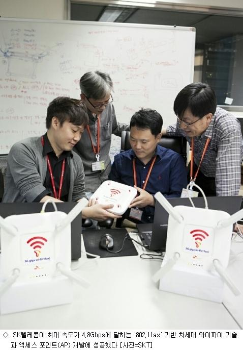 SK텔레콤, 4배 빠른 ''차세대 와이파이'' 개발 성공