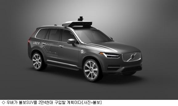 우버, 자율주행 볼보 SUV 2만4천대 구입