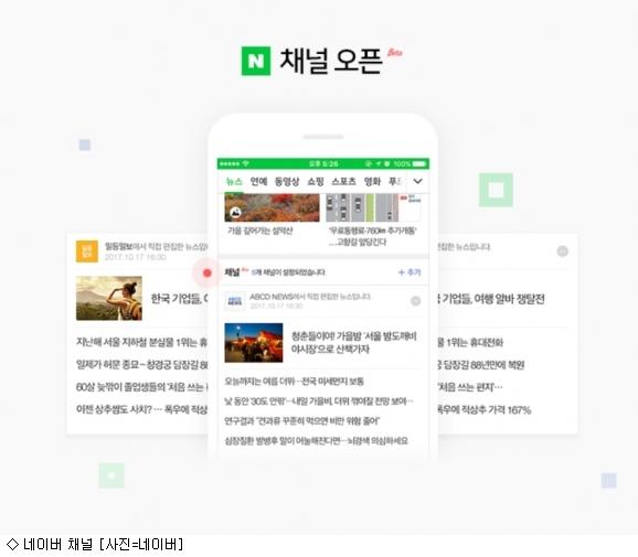언론사 편집 네이버 채널, 설정 100만 돌파