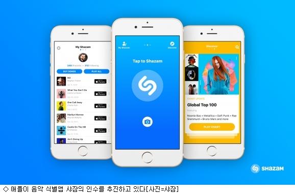 애플, 음악식별앱 샤잠 인수 추진…왜?
