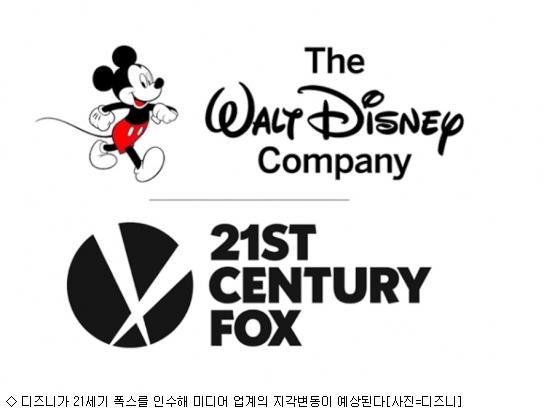 디즈니의 폭스 인수…미디어 '지각변동'