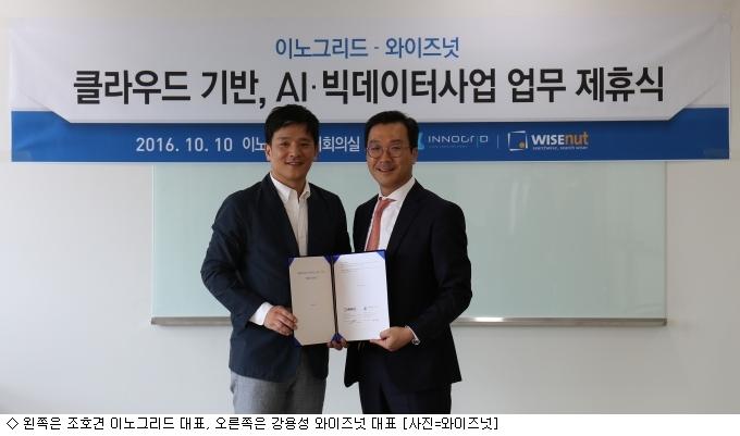 와이즈넛·이노그리드, 클라우드 사업 협력