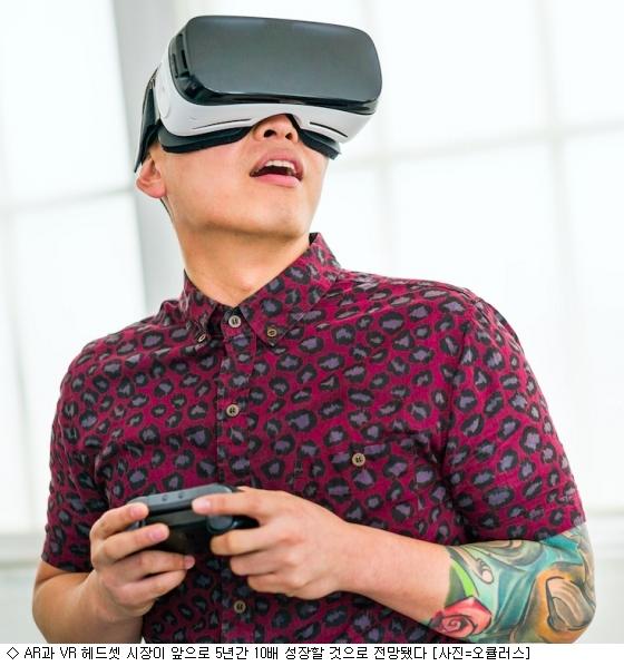 AR과 VR 헤드셋 시장 5년내 10배 성장