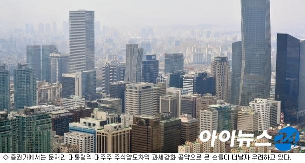 대주주 지분 양도세 강화되나…금투업계 '촉각'