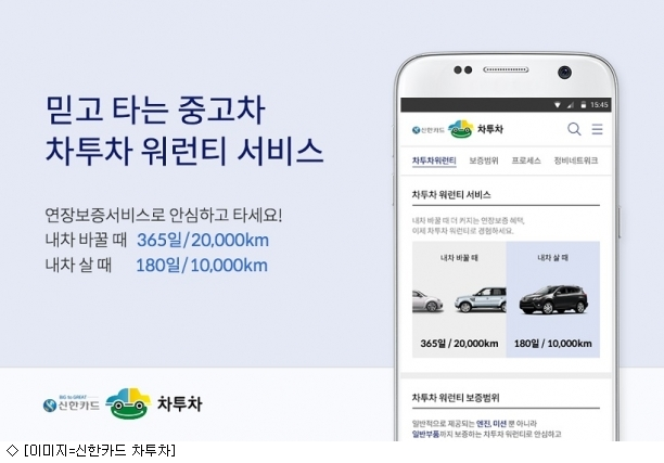 신한카드 차투차, 중고차보증 서비스 출시