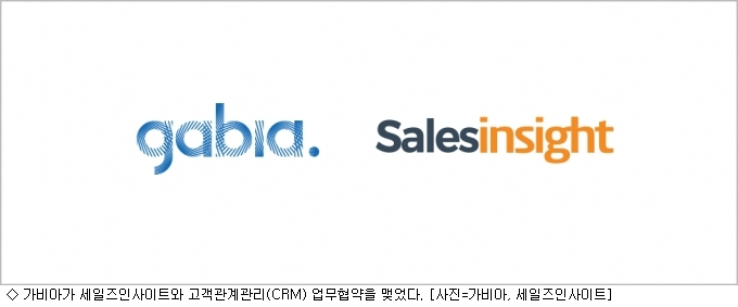 가비아, 세일즈인사이트와 CRM 업무 협약