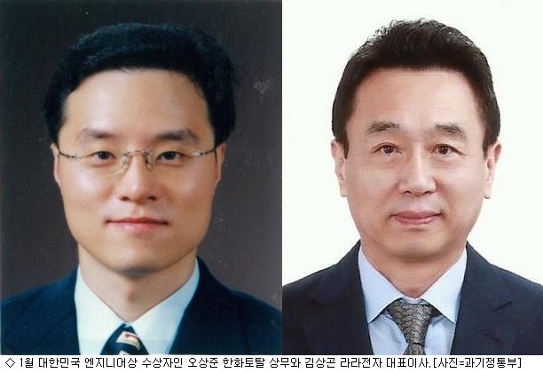 1월 대한민국 엔지니어상에 오상준·김상곤