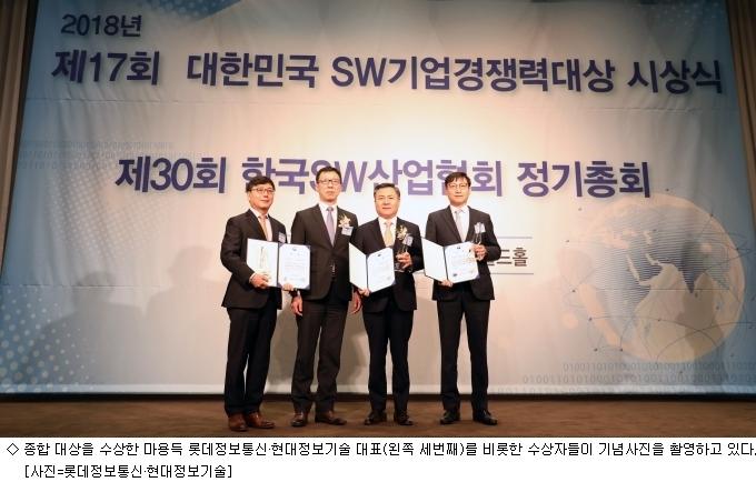 롯데정보통신·현대정보기술, 'SW기업 경쟁력 대상' 수상