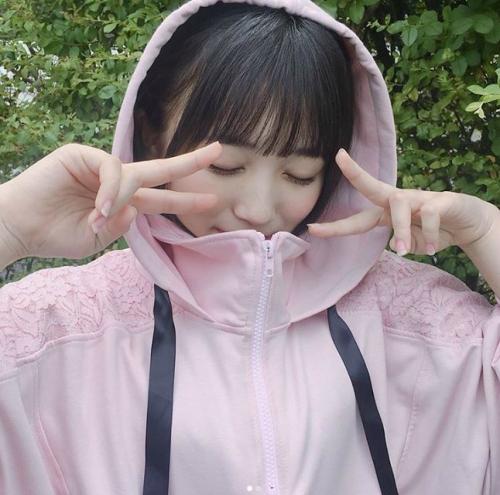 '프듀48' 야부키 나코, 핑크 후드티 입고 깜찍 '브이' 녹아내리는 남심