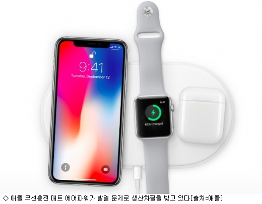 애플 무선 충전매트 발열로 출시 난항