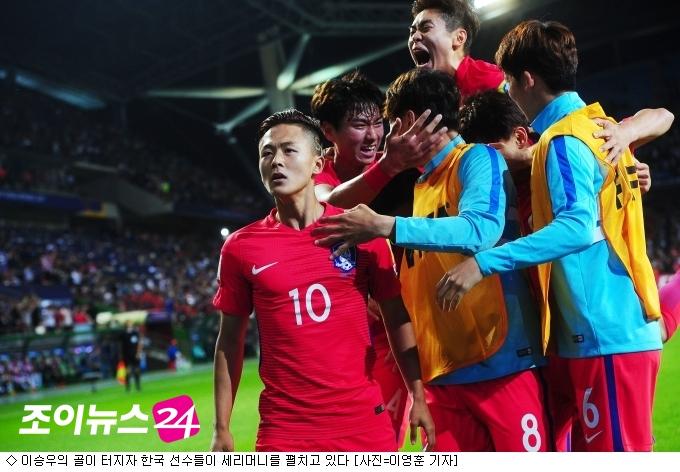 '이승우 환상골' 한국, 아르헨 잡고 16강 선착