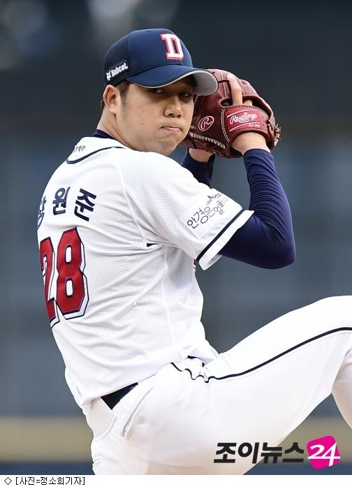 장원준, 제3회 최동원상 수상…두산 선수 2회 연속