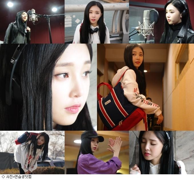 아이디, '연습생닷컴' 광고촬영 비하인드 컷 공개