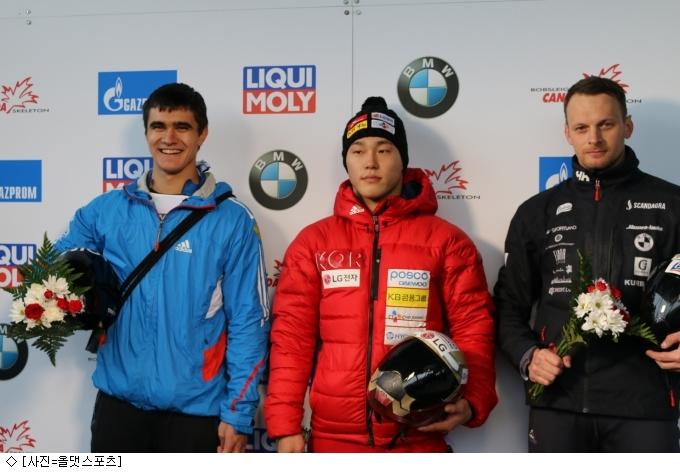 스켈레톤 에이스 윤성빈, 세계 랭킹 1위로 평창 출전