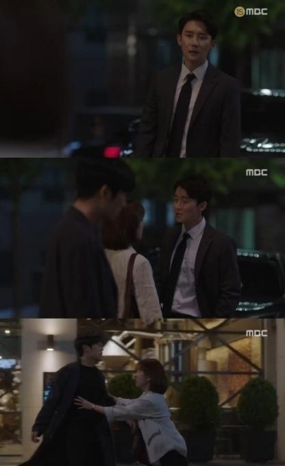 '봄밤' 정해인X김준한, 한지만 사이에 두고 언쟁